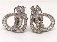 Gorgeous Cartier Vintage Large Diamond Earrings Circa 1930's