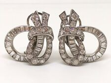 Gorgeous Cartier Vintage Large Diamond Earrings Circa 1930's