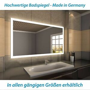HOPE LED-Badspiegel mit Beleuchtung, rahmenloser Wandspiegel, Badezimmerspiegel