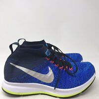 9132 Nike Kids Zoom Pegasus All Out Flyknit GS Racer Blue/White/Obsidian US 4 Y