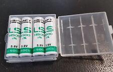 4x Saft Batterie LS14500 AA Lithium 3,6V 2600mAh Thionylchlorid mit Transportbox