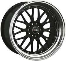 18X8.5/10 XXR 521 5x114.3/120 +25 Black/Mach Wheels Fits Ford Mustang 350Z 370Z