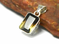 Smoky / Lemon  QUARTZ   Sterling  Silver  925  Gemstone  PENDANT - Gift  Boxed