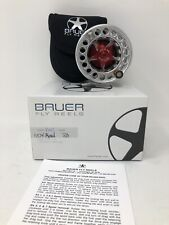 Bauer SST 4 Fly Reel Silver/Red ~ 3/4/5 ~ NEW