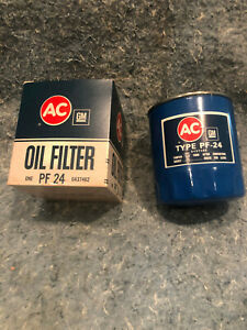 AC GM 2 (TWO) Oil Filters PF24 6437462 Buick Olds Pontiac Kaiser Jeep AMC NOS