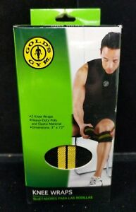 """New 3"""" x 72"""" Golds Gym Competition Heavy Duty Knee Wraps Joint Support C4-6"""