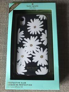 Kate Spade New York Case Cover for Apple iPhone XR Black White Flowers