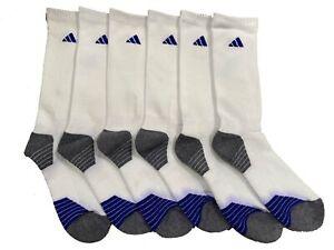 3 Pair Mens Adidas Climalite Crew Socks Three Stripe Originals Gym Golf Tennis