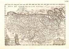 Antique map, Comitatus Flandriae