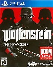 Wolfenstein: The New Order -(Sony PlayStation 4) Ps4 Video Game Factory NEW