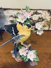 Homco Masterpiece Porcelin 1994 Gold Finch