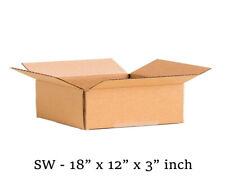 18x12x3 inch Single Wall Mailing Postal Packing Cardboard Boxes Multi QTY's