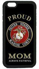 USMC Marines Marine Corps iPhone 4 4s 5 5s 5c 6 6 Plus Case Cover Proud Mom