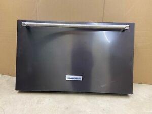 OEM Genuine KitchenAid Black Stainless Freezer Door W10815700, W10634625