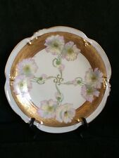 """Pickard  Hand Painted """"Twin Poppy"""" artist signed Charger/Round Platter"""