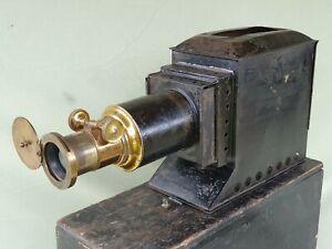 Optimus Antique Magic Lantern Projector c1900 Converted to Electric