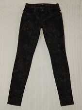 7 SEVEN FOR ALL MANKIND – 29 – Black/Gray Jacquard Printed Denim Jeans – #W532