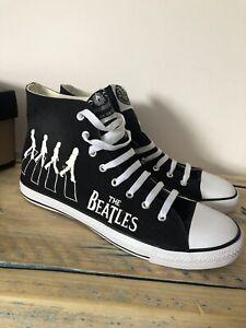 New Custom Beatles Original Canvas High Dunlops Display