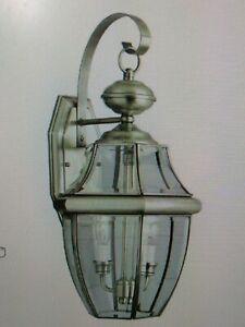 Trans Globe Lighting 4320 BN 2-Light Coach Lantern, Brushed Nickel( #43