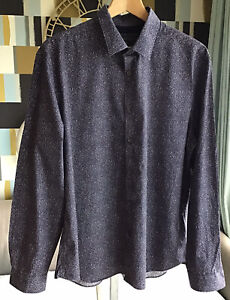 """M&S Limited Edition Smart Mens Blue Shirt New Size XL Collar 17"""""""
