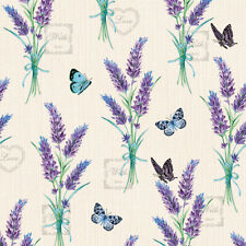 Ambiente 3 Ply Paper Napkins, Lavender With Love Cream Serviette Lunch Party