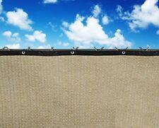 6x25ft Wheat Fence Windscreen Privacy Screen Shade Cover Fabric Mesh Garden Tarp
