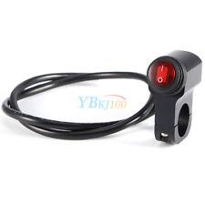 1X Black Motorcycle Waterproof Handlebar Headlight Fog Spot light On Off Switch