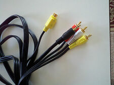 s-video + audio to 3RCA cable, 12'