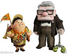 "Walt Disney / Pixar ""UP"" Carl Fredricksen + Russell WindoCling Sticker Decal NEW"
