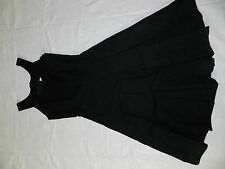 WOMENS BLACK DRESS pleated CALVIN KLEIN SIZE 0 = A-line style SCOOP NECK = ss11