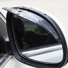 2 x Black Car Truck Rear Mirror Rain Board Eyebrow Visor Rain Shield Water Guard