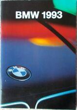 Prospekt BMW Modellprogramm 1993 - 2/93  48 Seiten stark! sehr schön
