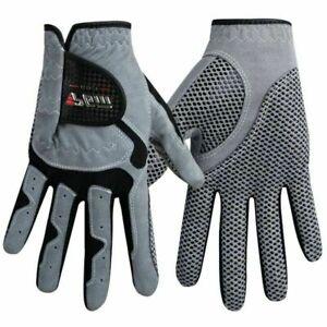Golf Gloves Mens Left  Hand Soft Breathable Sheepskin Anti-slip Granules gray