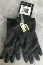 Nike Gray Anthracite/Black Fleece Touch Screen Gloves, Size Youth $15