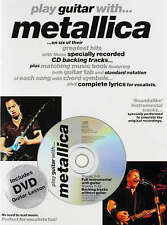 Play Guitar with... Metallica Book CD & DVD Lesson Tab Sheet Music B47