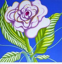 """Jack Brusca  """"Sweet Violet""""flower 1979 Original serigraph HAND SIGNED N.Y ARTIST"""