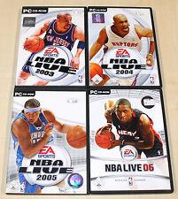 4 PC SPIELE SAMMLUNG - NBA LIVE 2003 2004 2005 2006 - BASKETBALL LEBRON JAMES