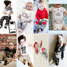 Newborn Toddler Kids Baby Boys Girls Outfits Clothes T-shirt Tops Pants 2PCS Set