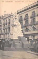 CPA ESPAGNE BARCELONA MONUMENTO A F.SOLER