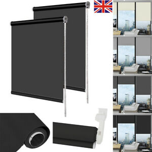 Blackout Roller Blind Made to Measure 5 Sizes 4 Colours Cream Beige Up To 180cm
