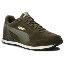 Puma ST Runner V2 SD Forest Night Green Suede Retro Running Shoes Trainers