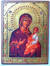 Griechische Ikone mit der Gottesmutter Hodegetria Greek Icon um 1970