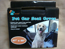 """New 57"""" x 63"""" PET CAR SEAT COVER by PET TRENDS Easy To Install"""