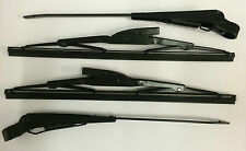 """Land Rover Series 2, 2a & 3 88"""" 109"""" Wiper Arms & Blades Set"""