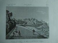 1845 Zuccagni-Orlandini Veduta del Villaggio di Macomer nell'Isola di Sardegna