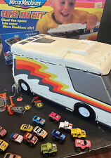 Micro Machines Super City Van 1991 Galoob In ORIGINAL BOX ACCESSORIES & 16 CARS~