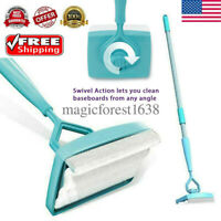 Baseboard Home Cleaning Mop Walking Glide Extendable Microfiber Dust Brush USA