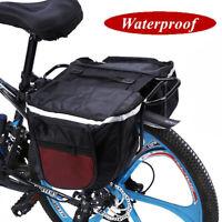 25L Cycling Bike Bicycle Rear Rack Seat Saddle Bags Pannier Pouch Waterproof