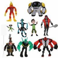 9Pcs Action Figures Toys Set Ben 10 Ten Tennyson Four Arms Heatblast kids Gifts