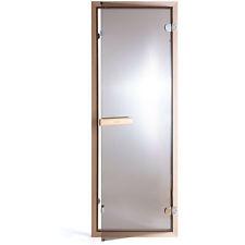 SULENO Saunatür Bronzeglas 70 x 190 cm Saunabau Saunazubehör Ganzglastür 6 mm